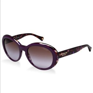 COACH LINDSAY PURPLE TORTOISE SUNGLASSES WITH CASE